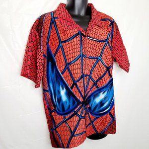 Spider-Man Short Sleeve Button Down Shirt